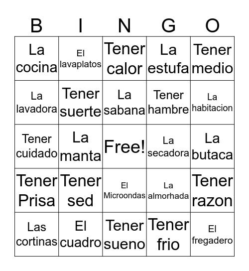 Capitulo 5  Bingo Card