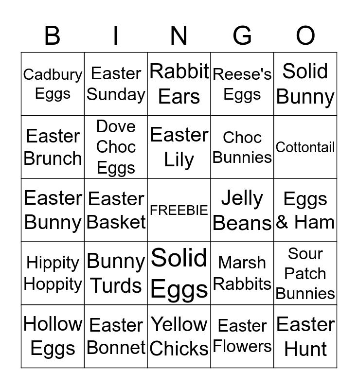 Easter Bonnet BINGO Card