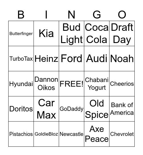 Super Bowl 2014 Bingo Card
