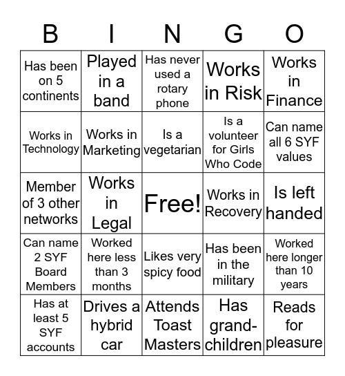 Women's Network + Connect Bingo Card