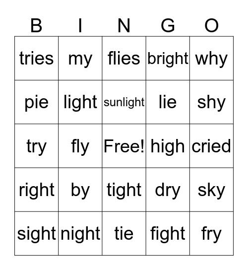 """long """"i"""" Bingo Card"""