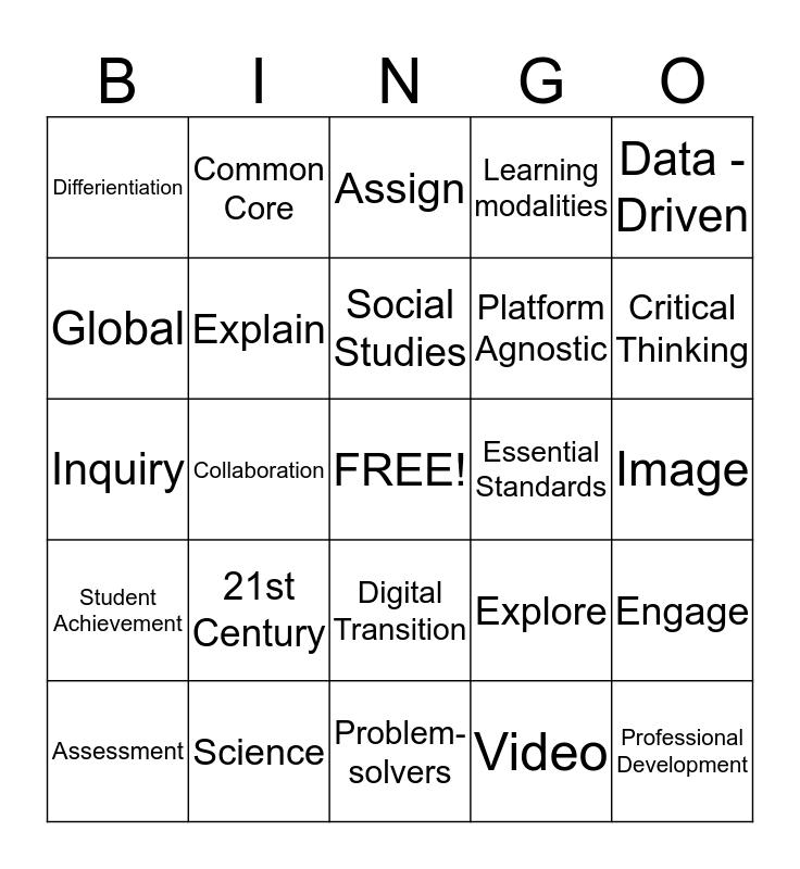 Discovery Education Techbook Bingo Card