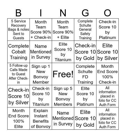 May Front Desk Bingo Card