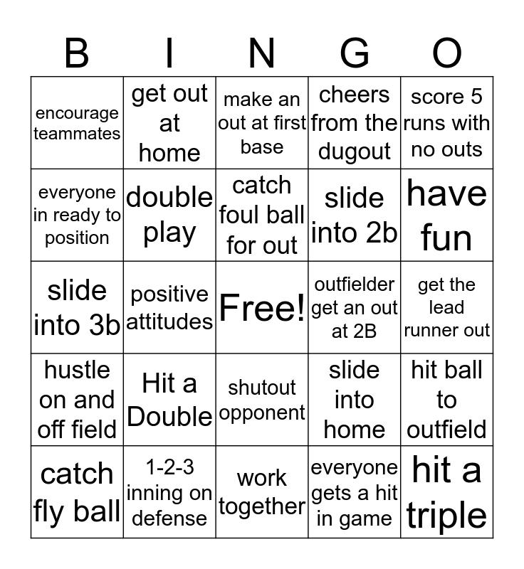 GAMECHANGERS Bingo Card