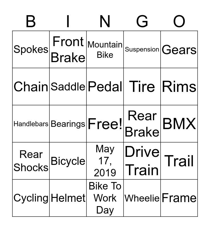 Bike Bingo Card