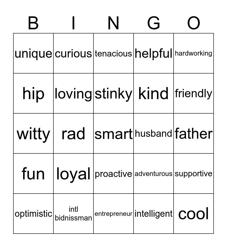 Cory is 50! Bingo Card