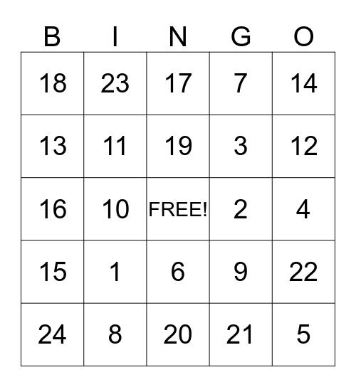 AT QUEST Bingo Card