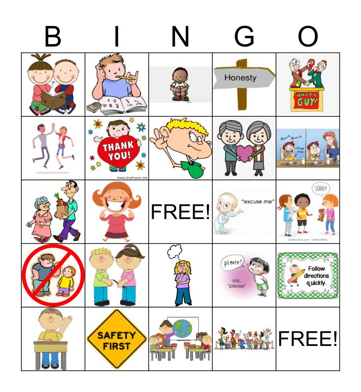 Expected Behavior BINGO Card
