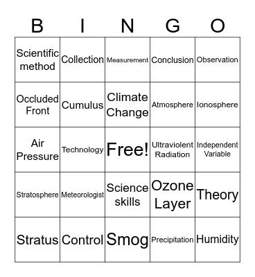 Body System & Genetics  Bingo Card