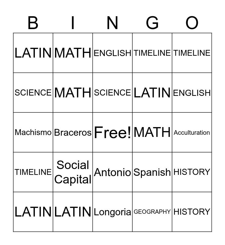 Review BINGO! Bingo Card