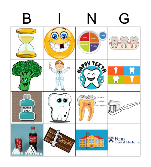 Younger kids Bingo Card