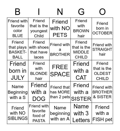 Bingo #15 Bingo Card