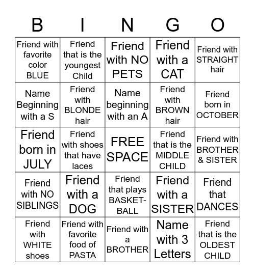 Bingo #18 Bingo Card