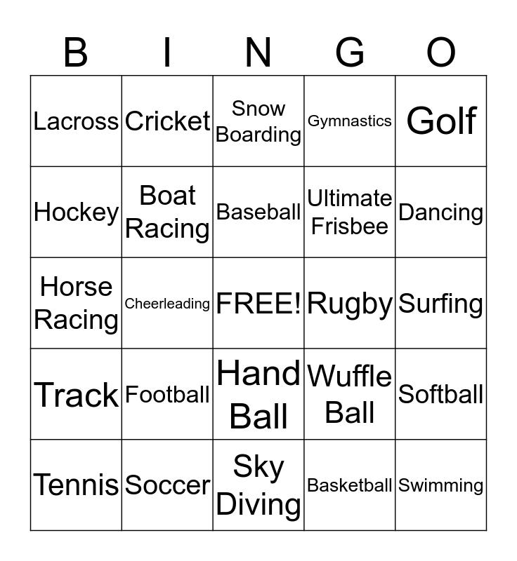 Franklin Patterson's Sports Bingo Card Bingo Card