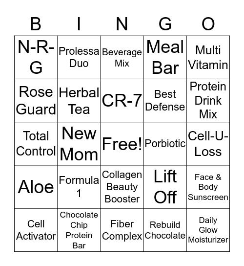 Herbalife Bing Bingo Card