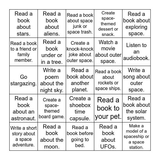 Universe of Stories Bingo Card