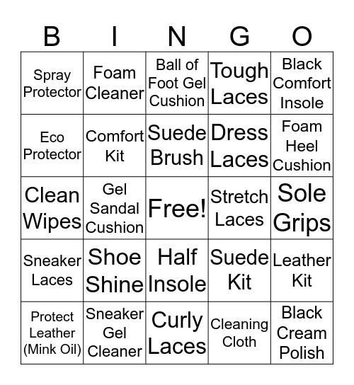 Walter's Shoe Care BINGO! Bingo Card