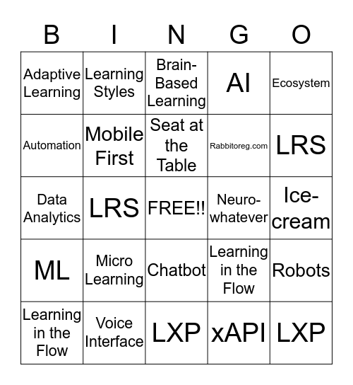 Absolutely Un-Official ATD ICE 2019 Bingo Card