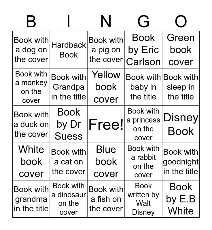 Storybook Bingo Card