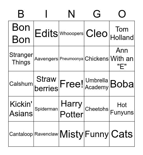 IMAN BINGO!!! Bingo Card