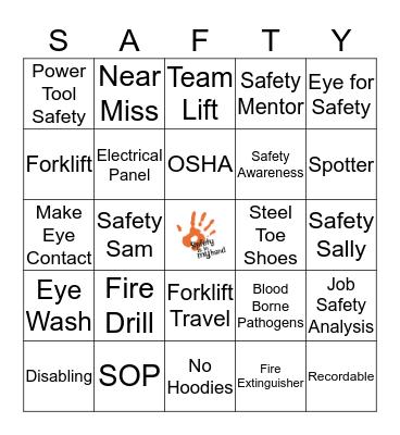 Safety First Bingo Card