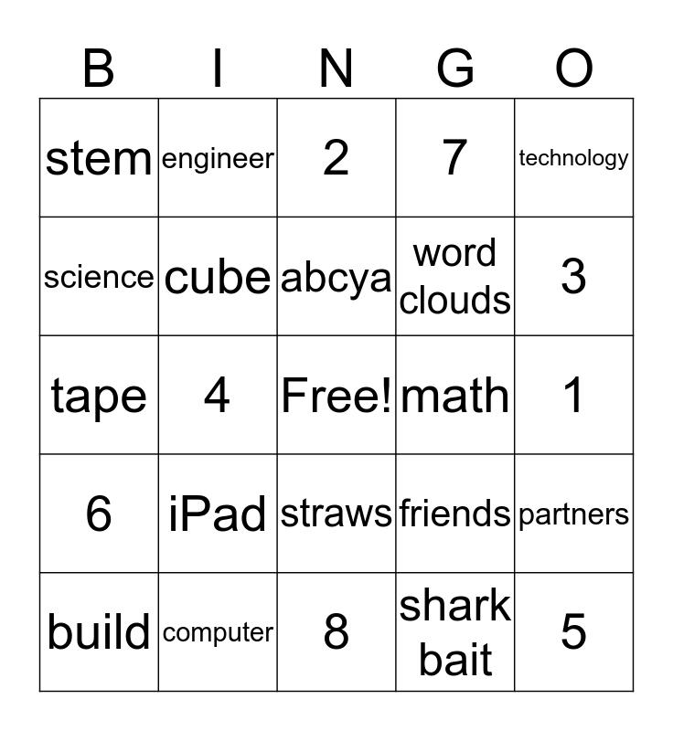 CCE STEM Bingo Card