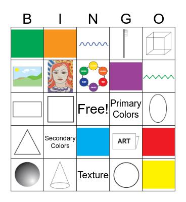 Art Bingo!!! Bingo Card