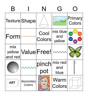 Challenging Art Bingo! Bingo Card