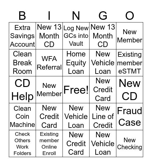 Eagan's Bingo Bananza Bingo Card