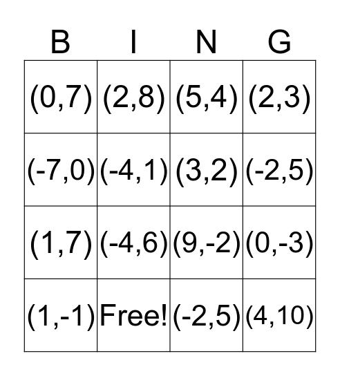 Board 14 Bingo Card