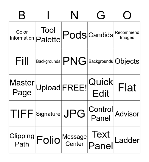 Online Design Terms to Know Bingo Card