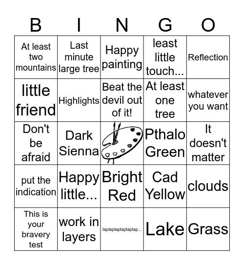 Bob Ross Bingo! Bingo Card