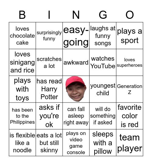 AJ Bingo Card