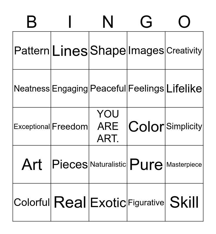 PAPER MOSAIC Bingo Card