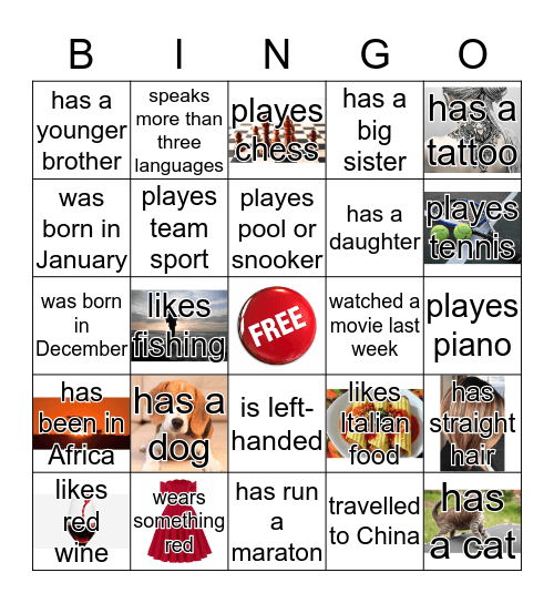 GET TOGETHER BINGO Card