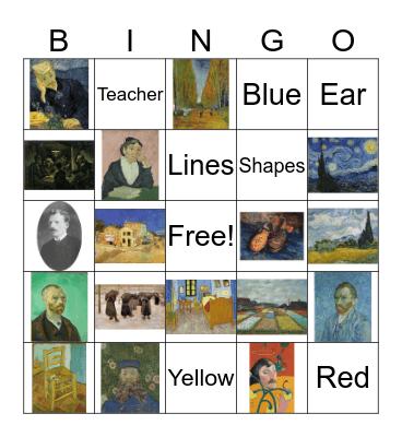 Vincent Van Gogh Bingo Card