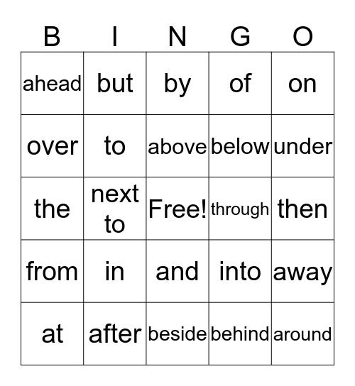 Essential Words #1 Bingo Card