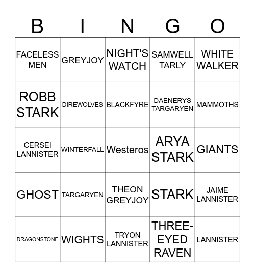 ✨ B I N G O ✨ Bingo Card