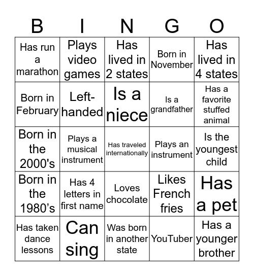 FLAMM FAMILY REUNION Bingo Card