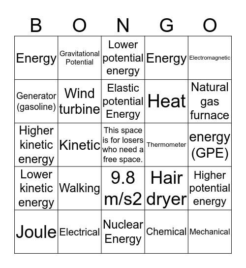 Bongo Bingo Card