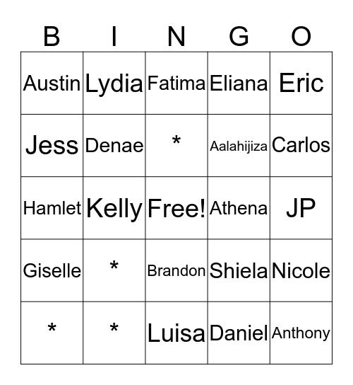 Summer Adventures Bingo Card