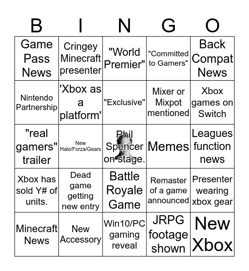 E3 2019 Bingo Bonanza Bingo Card