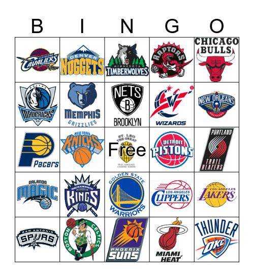 Basketball Teams Bingo Card