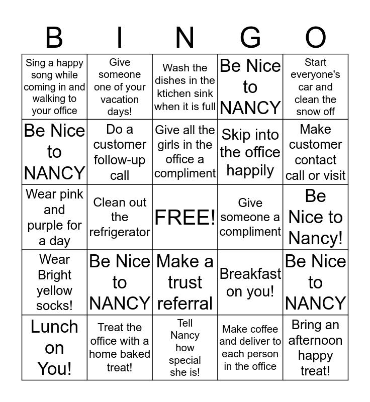 HAPPY OFFICE BINGO  Bingo Card
