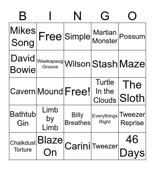 phish Bingo Card