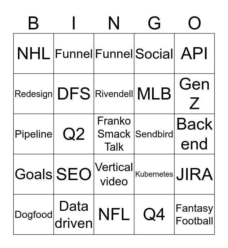 PSI Q3 BINGO  Bingo Card