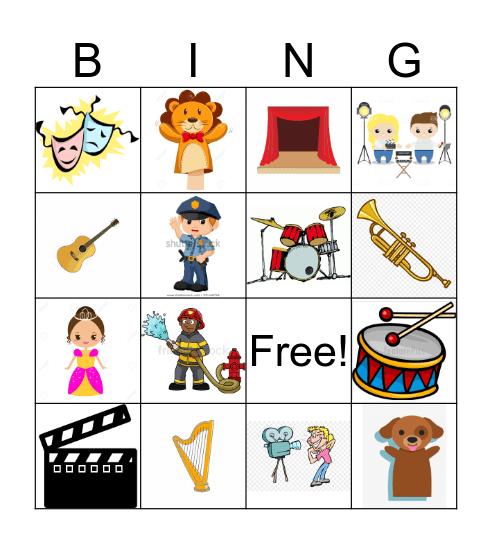 Preforming Arts Bingo Card