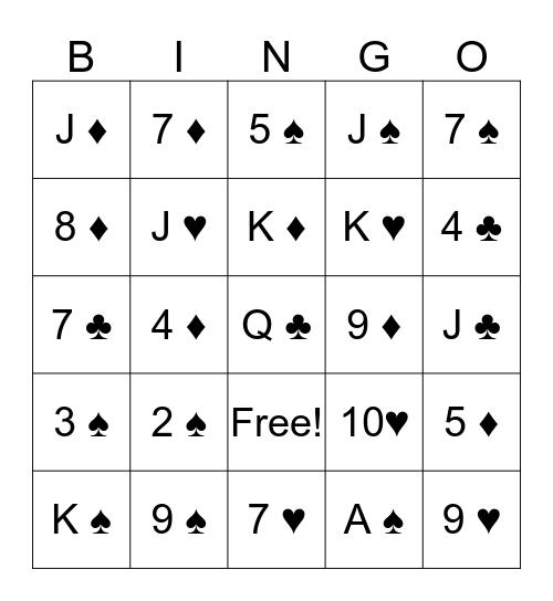 Card Bingo Card