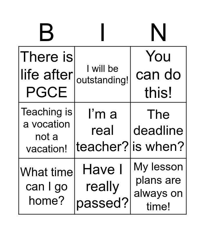 Dixons Bingo Card