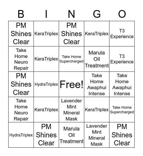 Treatment Bingo  Bingo Card